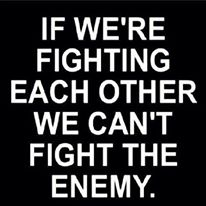 fighting each other
