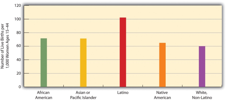 birth rates by race in America